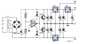 Triple Power Supply Schematic Circuit Diagram