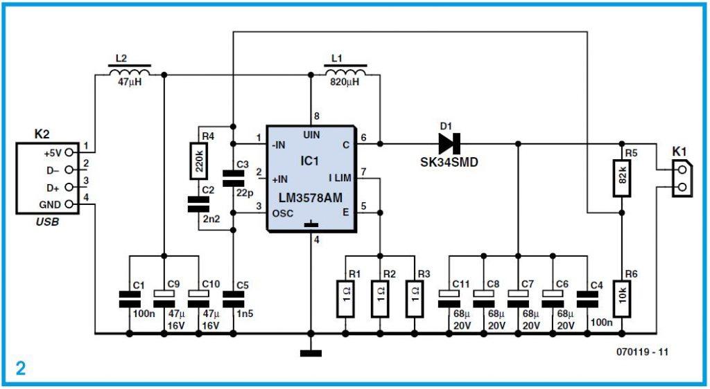 USB Converter Schematic Circuit Diagram 2