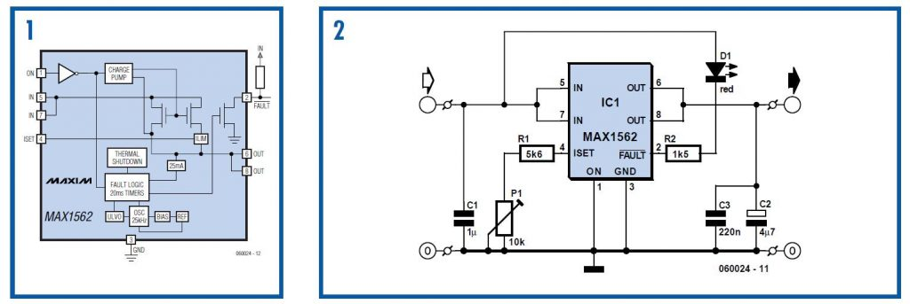 Contrast Control for LCDs Schematic Circuit Diagram