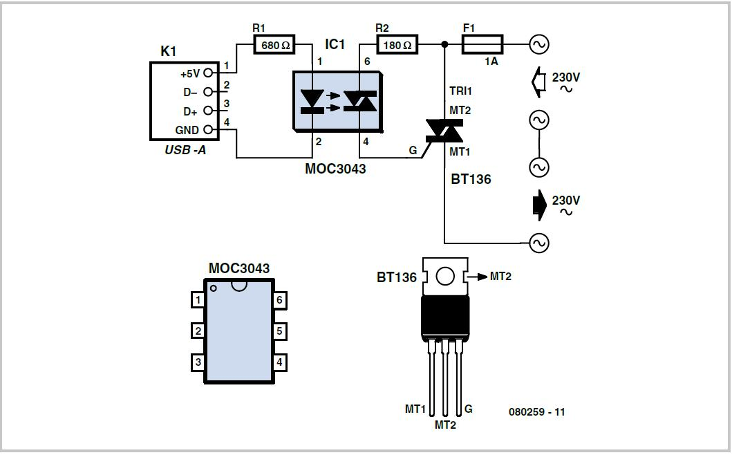 Usb Standby Killer Schematic Circuit Diagram