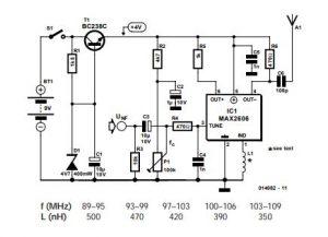 VHF Test Transmitter Schematic Diagram
