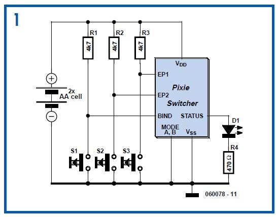 ZigBee Switching for Remote Control Schematic Circuit Diagram 1