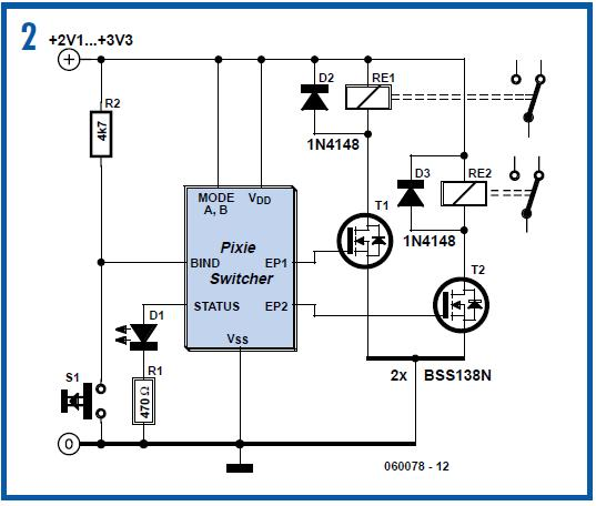 ZigBee Switching for Remote Control Schematic Circuit Diagram 2
