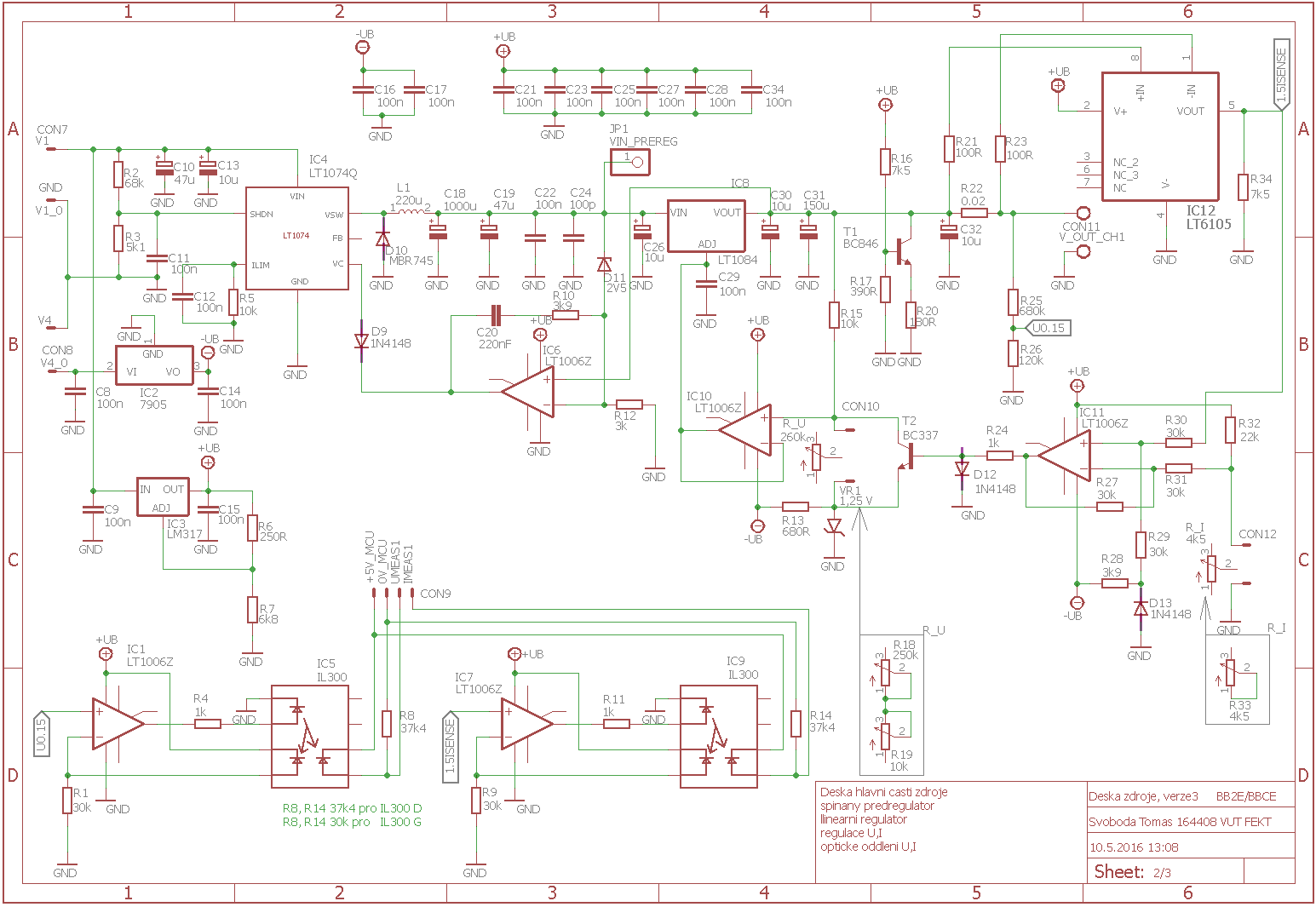 0 3a 0 30v Switched Digital Power Supply Schematic Circuit Diagram