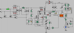 60V 10A 600W SMPS CIRCUIT (FLYBACK SELF-OSCILLATOR) SCHEMATIC CIRCUIT DIAGRAM