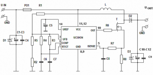 12V 19V DC TO DC CONVERTER FOR LAPTOP UC3843D SCHEMATIC CIRCUIT DIAGRAM