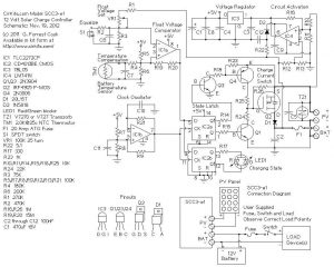 20 AMP SOLAR CHARGE CONTROLLER FEATURES, OPERATION SCHEMATIC CIRCUIT DIAGRAM