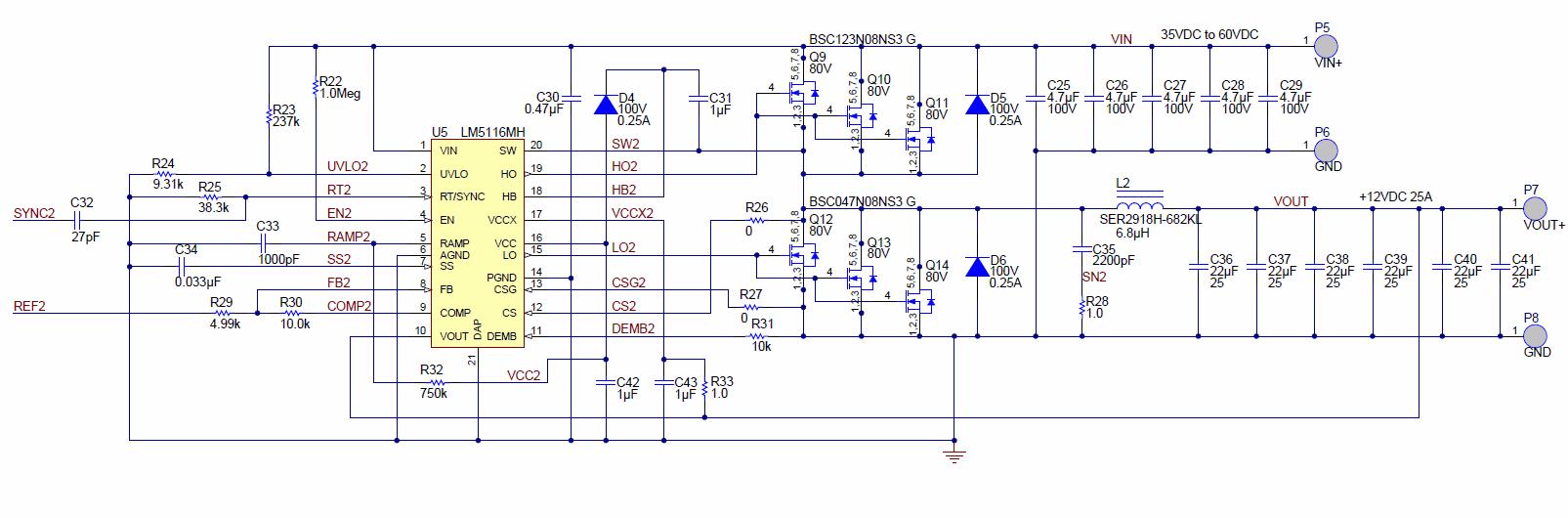 600v Dc Dc Buck Converter With 60v Input 12v 50 Amperes