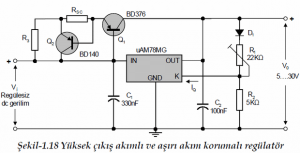 ADJUSTABLE VOLTAGE OUTPUT LINEAR INTEGRATED SCHEMATIC CIRCUIT DIAGRAM 7