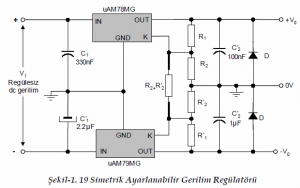 ADJUSTABLE VOLTAGE OUTPUT LINEAR INTEGRATED SCHEMATIC CIRCUIT DIAGRAM 8