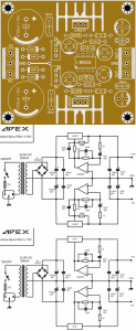 AMPLIFIER POWER SUPPLY AND PROTECTION CIRCUITS Schematic Circuit Diagram 1