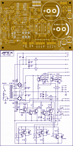 AMPLIFIER POWER SUPPLY AND PROTECTION CIRCUITS Schematic Circuit Diagram 3