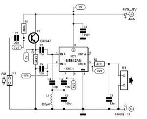 Alignment-free FM Detector Schematic Circuit Diagram 2