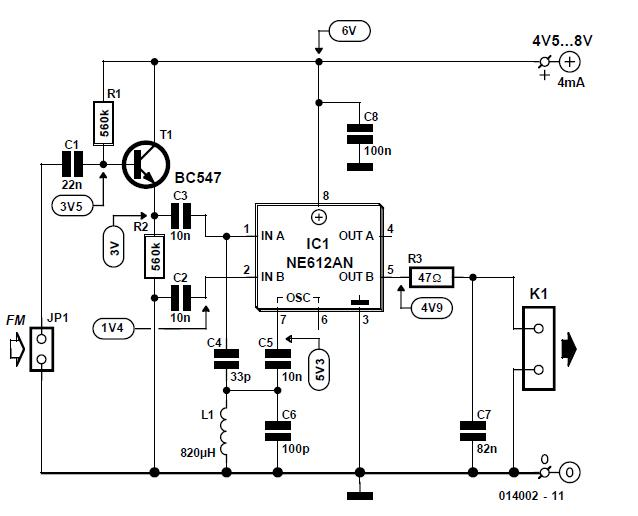 Alignment-free FM Detector Schematic Circuit Diagram 2