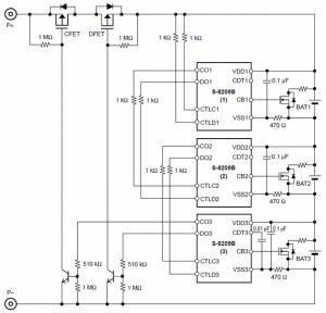 BALANCING LI-ION LI-POLYMER BATTERIES BATTERY BALANCING CIRCUIT Schematic Circuit Diagram 9