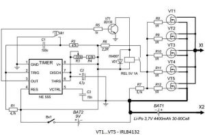 BATTERY PUNCTUATION SCHEMATIC CIRCUIT DIAGRAM