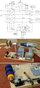 CORDLESS DRILL AND TRANSFORMER WINDING SCHEMATIC CIRCUIT DIAGRAM