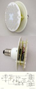 CURRENT LIMITED 230V LED BULB (WITH FLUX LED) SCHEMATIC CIRCUIT DIAGRAM