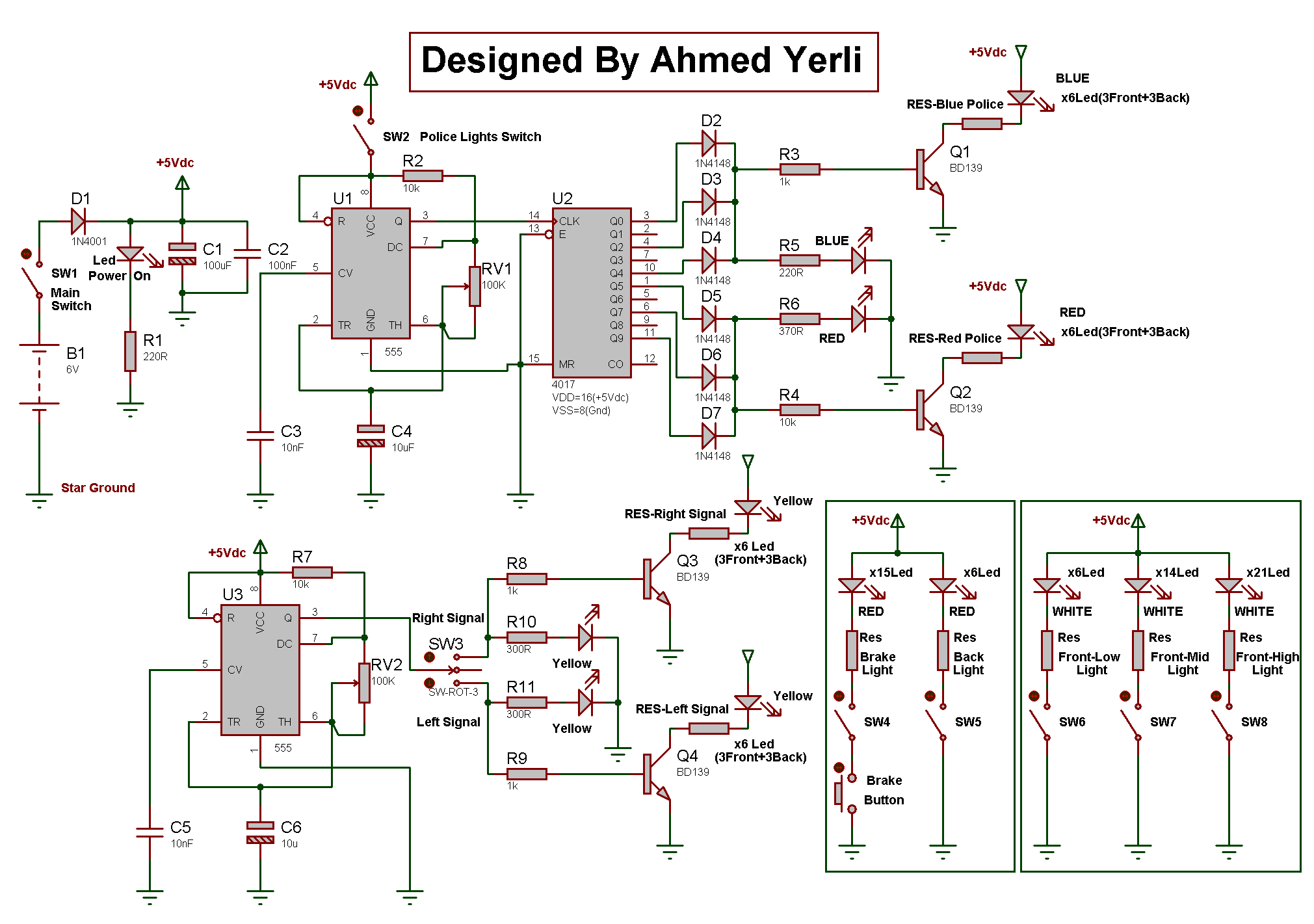 Cycling Fly Project Schematic Circuit Diagram