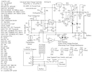 10 AMP SOLAR CHARGE CONTROLLER FEATURES, OPERATION SCHEMATIC CIRCUIT DIAGRAM