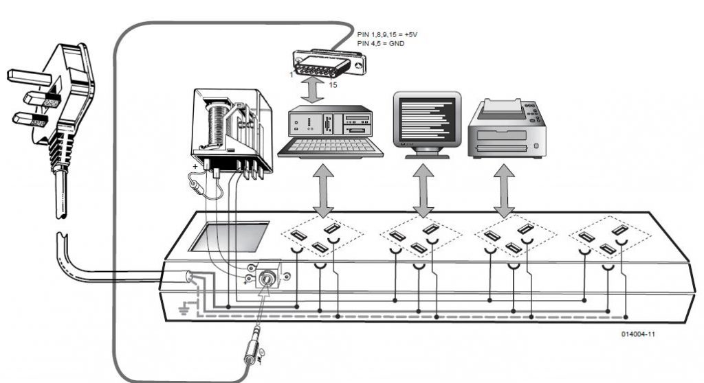 Computer Off=Monitor Off Schematic Circuit Diagram