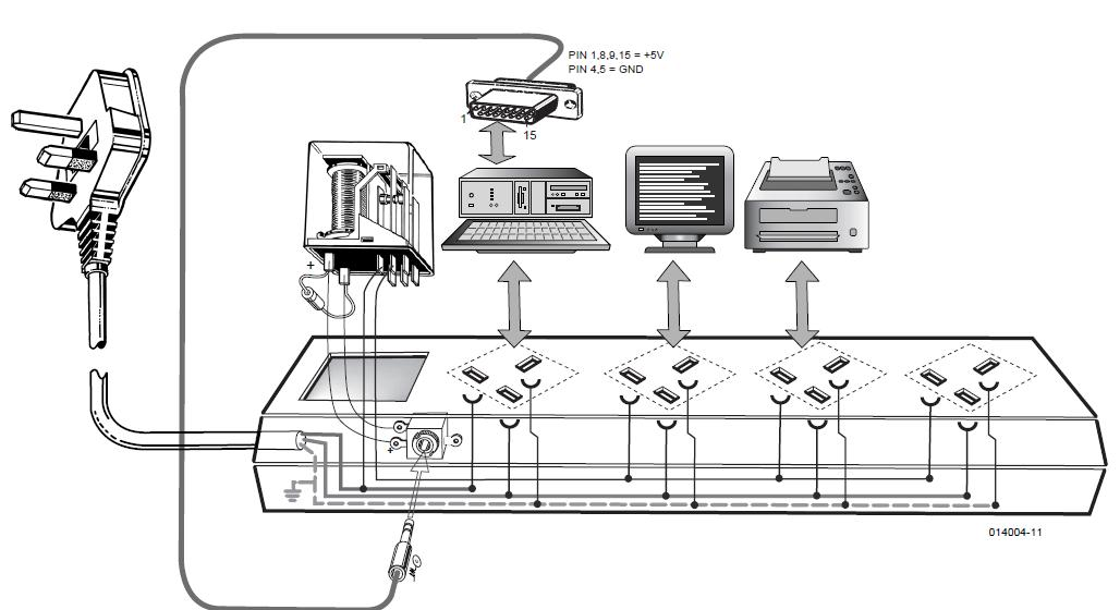 Computer Off   Monitor Off Schematic Circuit Diagram