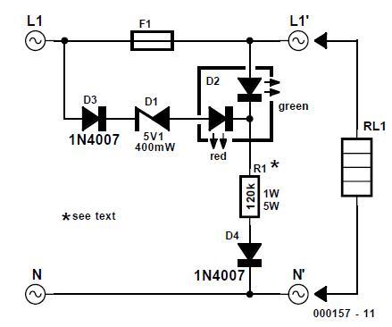Fuse Failure Indicator Schematic Circuit Diagram