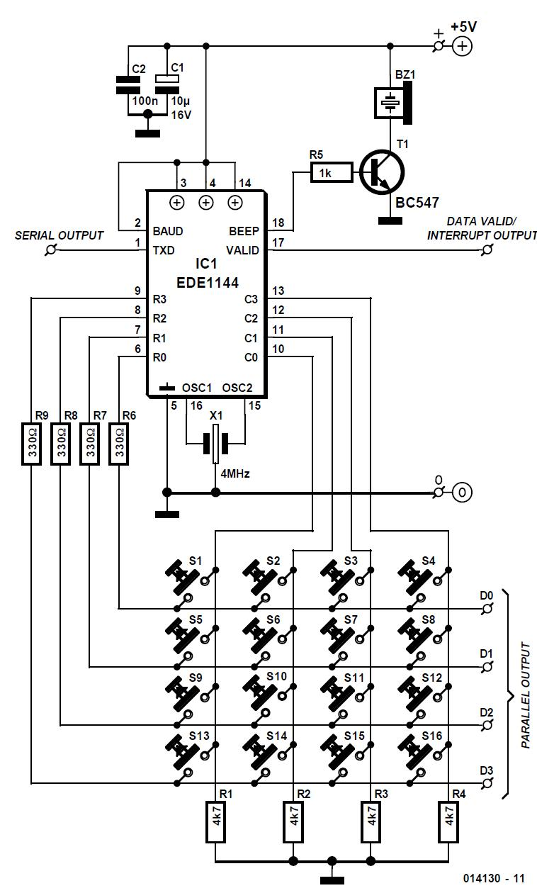 Keypad Encoder Ic With Serial Output Schematic Circuit Diagram Schematics