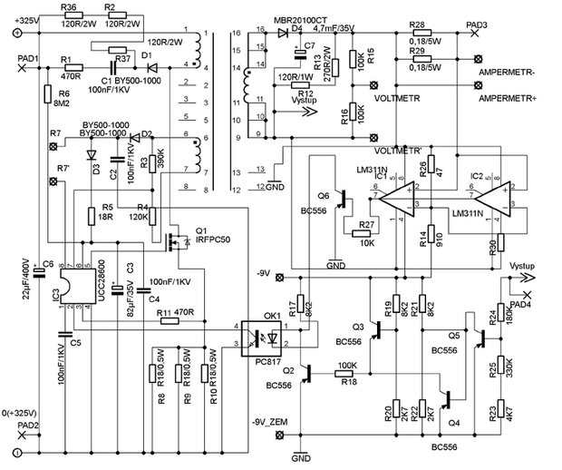 0 30v 5a Laboratory Smps Adjustable Power Supply Ucc28600 Schematic Circuit Diagram