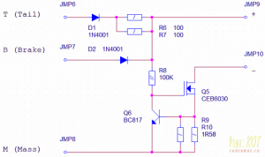 CURRENT LIMIT POWER LED BRAKE LAMP SCHEMATIC CIRCUIT DIAGRAM