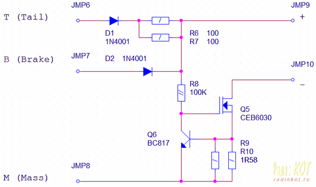 Photo of CURRENT LIMIT POWER LED BRAKE LAMP SCHEMATIC CIRCUIT DIAGRAM