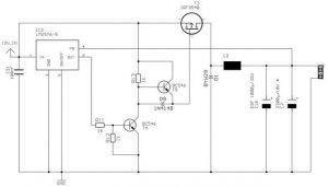 LM2576 8A 5V DC DC STEP-DOWN SCHEMATIC CIRCUIT DIAGRAM