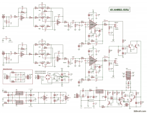 LM3886 STEREO COMPLEX ANFI PROJECT SCHEMATIC CIRCUIT DIAGRAM 8