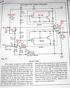 LOW COST REAL 20W QUALITY AMPLIFIER SCHEMATIC CIRCUIT DIAGRAM 3