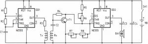 SIMPLE PRECISION METAL DETECTOR SCHEMATIC CIRCUIT DIAGRAM