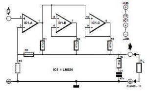 Parallel Opamps Schematic Circuit Diagram
