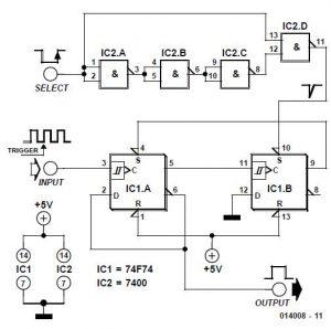 Pulse Selector Schematic Circuit Diagram
