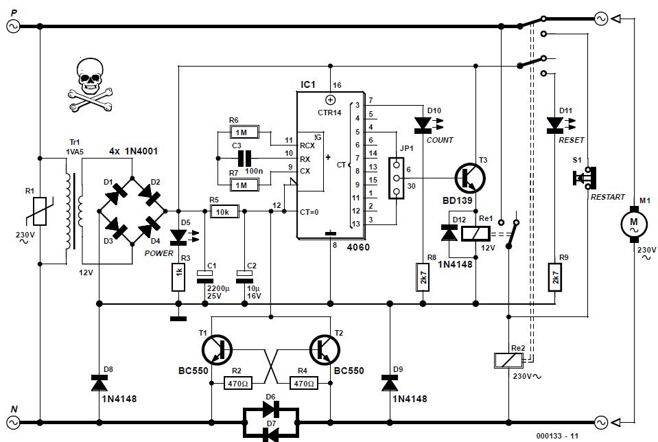 pump protector schematic circuit diagram