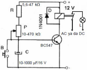 TWO-TRANSISTOR DC-AC CONVERTER SCHEMATIC CIRCUIT DIAGRAM