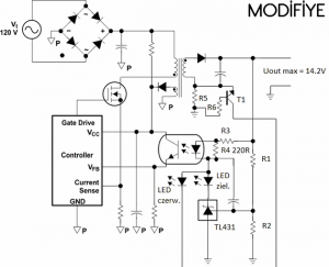 SMPS CIRCUIT SCHEMATIC ORIGINAL AND MODIFIYE 2