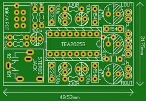 STEREO MINI AMPLIFIER WITH TEA2025B SCHEMATIC CIRCUIT DIAGRAM 7