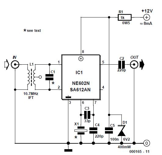 SW Converter for AM Radio Schematic Circuit Diagram