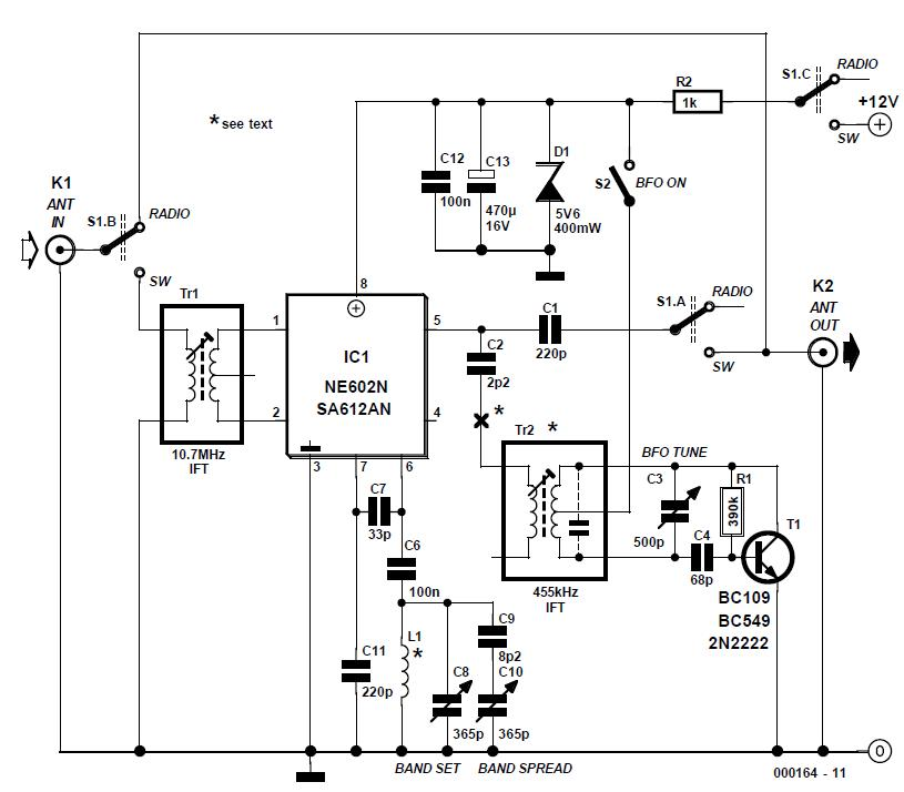 SW Converter for Digital AM Car Radio Schematic Circuit Diagram