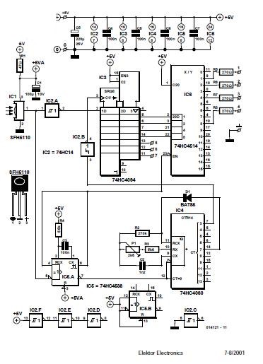 Simple IR Receiver Schematic Circuit Diagram