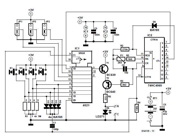 Simple IR Transmitter Schematic Circuit Diagram