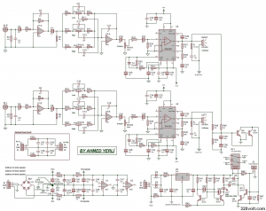 TDA7294 STEREO AMPLIFIER SCHEMATIC CIRCUIT DIAGRAM