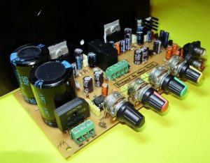 TDA7294 STEREO TONE CONTROLLED SPEAKER PROTECTED AMPLIFIER SCHEMATIC CIRCUIT DIAGRAM 2