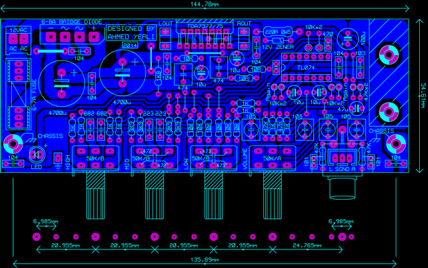 TDA7377 TONE CONTROLLED STEREO AMPLIFIER PROJECT SCHEMATIC ...