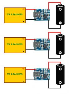 TP4056 CONNECTION Schematic Circuit Diagram