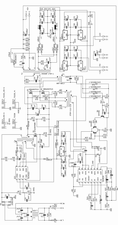 HIP4081A 2X100W CLASS D AMPLIFIER CIRCUIT (SMPS POWER ...